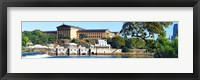 Framed Art museum at the waterfront, Philadelphia Museum Of Art, Schuylkill River, Philadelphia, Pennsylvania, USA