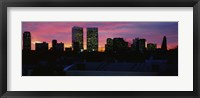 Framed Silhouette of buildings in a city, Century City, Los Angeles, California