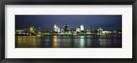 Framed Ohio River Skyline at Night