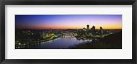Framed Pittsburgh Sunset over Buildings