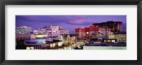 Framed High angle view of buildings in a city, Rodeo Drive, Beverly Hills, California, USA