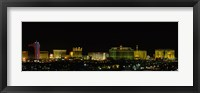 Framed Las Vegas, Nevada at night