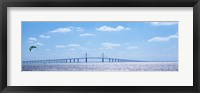 Framed Sunshine Skyway Bridge with Parachuter, Tampa Bay, Florida