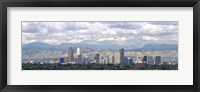 Framed Clouds over skyline and mountains, Denver, Colorado, USA