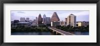 Framed Skylines in a city, Lady Bird Lake, Colorado River, Austin, Travis County, Texas, USA