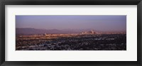 Framed Aerial view of Hollywood and San Gabriel Mountains