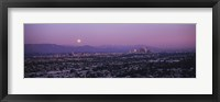 Framed Hollywood and San Gabriel Mountains, Los Angeles County