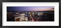 Framed Aerial view of a city, Paris Las Vegas, The Las Vegas Strip, Las Vegas, Nevada, USA