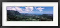 Framed High angle view of a landscape, Kaneohe, Oahu, Hawaii