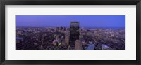 Framed Aerial View of Boston at Night