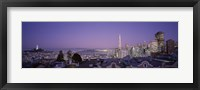 Framed View of San Francisco from Nob Hill, California