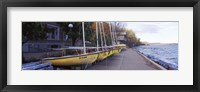 Framed Sailboats in a row, University of Wisconsin, Madison, Dane County, Wisconsin, USA