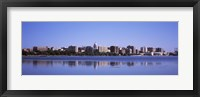 Framed Lake Monona and Madison Skyline,Wisconsin