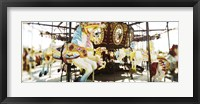 Framed Close-up of carousel horses, Coney Island, Brooklyn, New York City, New York State, USA