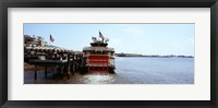 Framed Paddleboat Natchez in a river, Mississippi River, New Orleans, Louisiana, USA