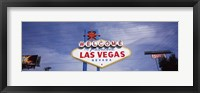 Framed Low angle view of Welcome sign, Las Vegas, Nevada, USA