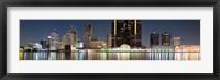 Framed Buildings along the Detroit River, Detroit, Michigan