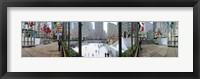Framed 360 degree view of a city, Rockefeller Center, Manhattan, New York City, New York State, USA