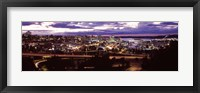 Framed Aerial view of a city, Tacoma, Pierce County, Washington State, USA 2010