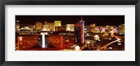 Framed Las Vegas Skyline Lit Up at Night