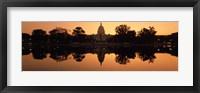 Framed Sepia Toned Capitol Building at Dusk, Washington DC