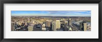 Framed Aerial view of a city, Cincinnati, Hamilton County, Ohio, USA 2010