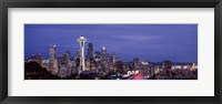 Framed Space Needle and Seattle Skyline 2010