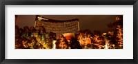 Framed Hotel lit up at night, Wynn Las Vegas, The Strip, Las Vegas, Nevada, USA