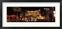 Framed Hotel lit up at night, Monte Carlo Resort And Casino, The Strip, Las Vegas, Nevada, USA