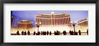 Framed Bellagio Resort And Casino Lit Up At Night, Las Vegas