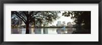 Framed Lake Eola, Orlando, Florida (black & white)