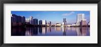 Framed Buildings Reflecting in Lake Eola, Orlando, Florida