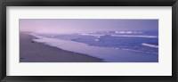 Framed Surf on the beach, Santa Monica, Los Angeles County, California, USA