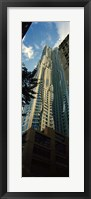 Framed Low angle view of an apartment, Wall Street, Lower Manhattan, Manhattan, New York City, New York State, USA