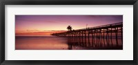 Framed San Clemente Pier at dusk, Los Angeles County, California