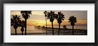 Framed Silhouette of a pier, San Clemente Pier, Los Angeles County, California