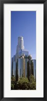 Framed Skyscrapers in a city, Los Angeles County, California, USA