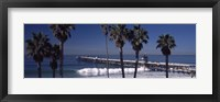 Framed Pier over an ocean, San Clemente Pier, Los Angeles County, California, USA