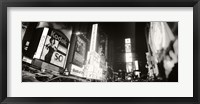 Framed Black and white view of Times Square, Manhattan