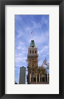 Framed Low angle view of an office building, Tribune Tower, Oakland, Alameda County, California, USA