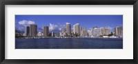 Framed Honolulu skyline, Hawaii