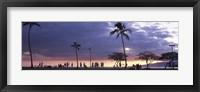 Framed Tourists on the beach, Honolulu, Oahu, Hawaii, USA