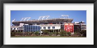 Framed Raymond James Stadium home of Tampa Bay Buccaneers, Tampa, Florida