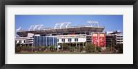 Framed Raymond James Stadium home of Tampa Bay Buccaneers, Tampa, Florida