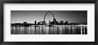 Framed Black and white view of St. Louis, Missouri
