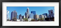 Framed Charlotte Skyline, North Carolina