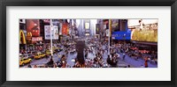 Framed People in a city, Times Square, Manhattan, New York City, New York State, USA