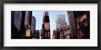 Framed Low angle view of buildings, Times Square, Manhattan, New York City, New York State, USA 2011