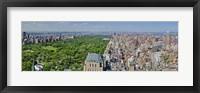 Framed Aerial view of a city, Central Park, Manhattan, New York City, New York State, USA 2011
