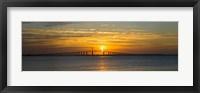 Framed Sunrise over Sunshine Skyway Bridge, Tampa Bay, Florida, USA